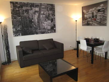short term rental 56sqm flat with terrace in Paris 11 Bastille